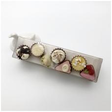 Belgiškų saldainių rinkinys dėžutėje