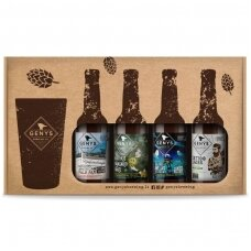 GENYS 4 alaus rūšių rinkinys su taure