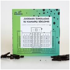 """Juodasis šokoladas su kanapių sėklomis, """"It's Kaunastic, 2 x 30g"""