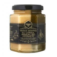 Medaus desertas su citrina, imbieru ir pipirmėtėmis 230 g.