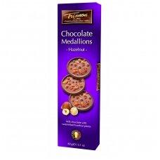 Pieniško šokolado taleriai su lazdyno riešutais, 60g