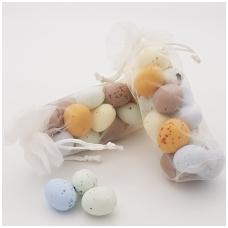 """Saldainių """"kiaušinukų"""" miksas organzos maišelyje, 150g"""